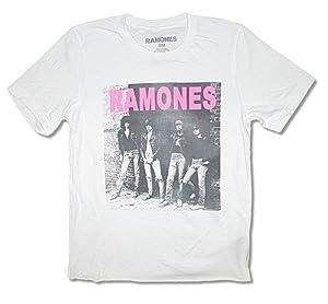 The Ramones Wall Photo Raw Edge Girls Juniors White T Shirt