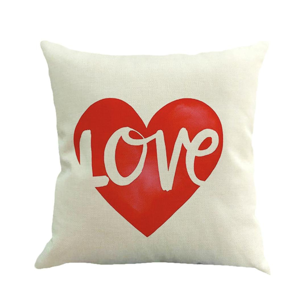 Amazon.com: Vovomay Happy Valentines Day Throw Pillow Cover ...