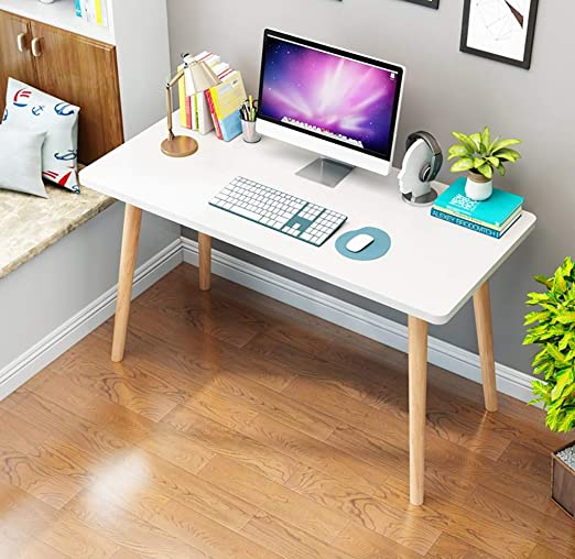 Ywdnza Mesa de Ordenador Nordic Computer Desk Desktop Table Home ...