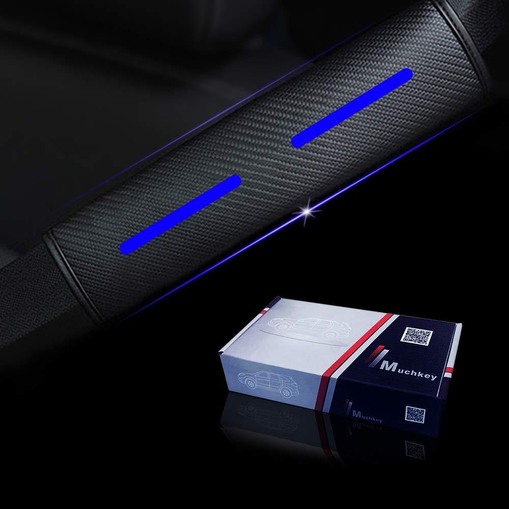 For Yaris Highlander RAV4 Prius vitz Corolla 2 Packs Seatbelt Shoulder Cushion Removable and Washable Car Seat belt Comfort Pads Seatbelt Strap Covers Blue