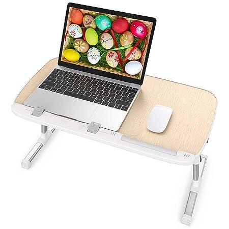 TaoTronics Mesa Ordenador Portátil, Mesa para Cama o Sofa, Bandeja Plegable para Desayuno, Mesa para Lectura o Juguetes, Soporte Portatil, Escritorio ...