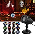 GESIMEI LED Christmas Light Projector Indoor Outdoor Halloween Decorations Waterproof Landscape Lighting with 12 Switchable Slides for Party, Holiday,Birthday