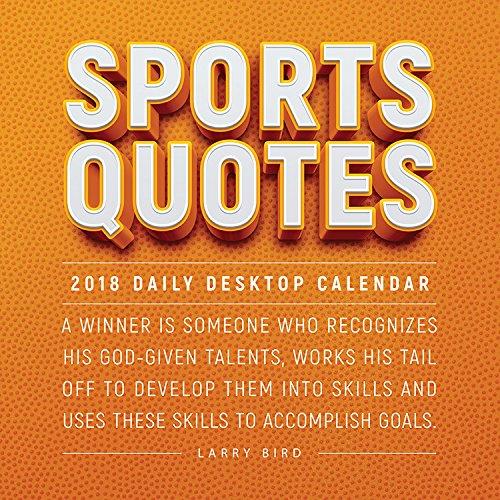 2018 Sports Quotes Daily Desktop Calendar
