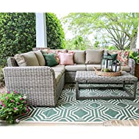 Leisure Made Forsyth Wicker Sectional Key Pieces