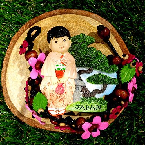 102 Around the World Refrigerator Fridge Magnet Gift & Souvenir Collection (Japanese Kimono Girl) (Washington Dc Gift Basket)