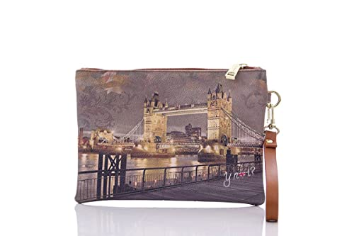 b2d48b8ec2 Y NOT? BORSA DONNA POCHETTE HANDLE SMALL I-342 golden bridge: Amazon ...
