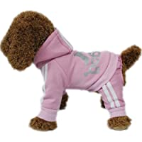 LifeWheel Pet Cat Dog Sweater Hoodies Jacket Pullover Coat Clothes For Winter(Pink,M) by LifeWheel