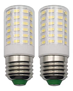 E26 7W LED Light Bulbs Home Lighting 100 Watt Equivalent Daylight White 6500k Eye Protect 85 CRI 950 Lumens 100-265 V Edison Candelabra E26/E27 Medium Screw Base Non-Dimmable - 2 Pack