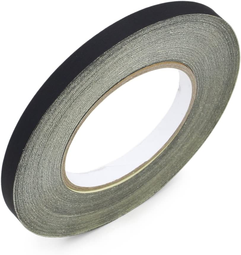 8mm x 100ft Black Insulating Acetate Cloth Adhesive Tape for Laptop Motor Transformer