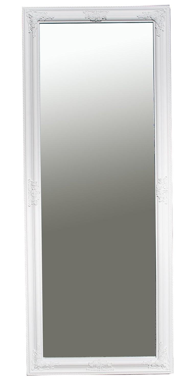 B.U.S. Wohnstyle GmbH Spiegel Wandspiegel Ganzkörperspiegel Garderobenspiegel KATHARINA Barock weiß 150 x 60 cm