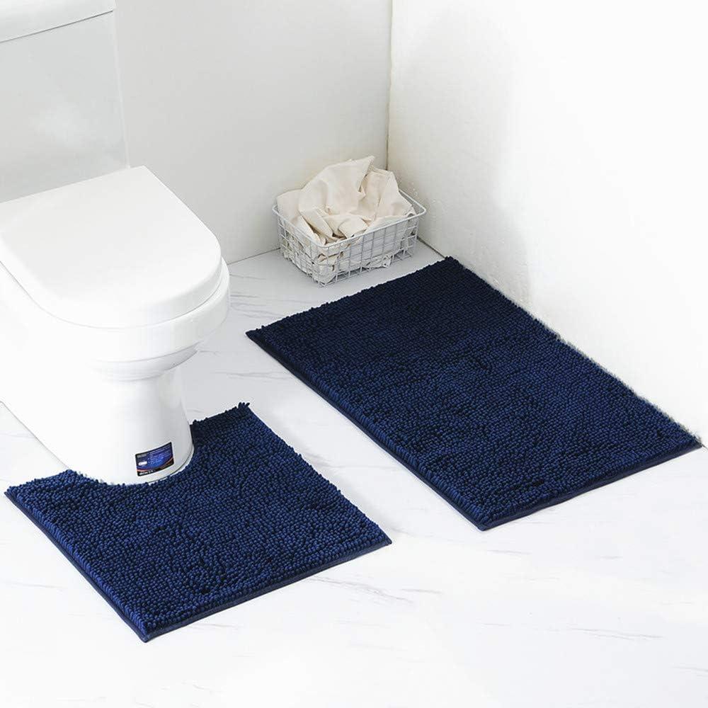 ele ELEOPTION 3 unidades antideslizante Soporte Juego de alfombras para ba/ño de espuma de Memory transpirable de alfombras suave Agua absorbente Cuarto de ba/ño Alfombra antideslizante Soporte Soporte