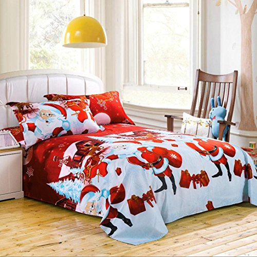 GBSELL 4 Pcs Bed Linen family home Textile