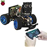 Adeept Smart Robot Car Starter Kit for Raspberry Pi 4 3 Model B B+ 2B Voice Recognition OpenCV Real-time Video Transmission W