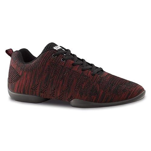 nuevo estilo y lujo modelado duradero mayor selección Anna Kern Hombres Zapatos de Baile/Dance Sneakers 4035 Bold - Rojo/Negro -  Suela de Sneaker