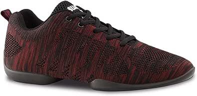 Anna Kern Hombres Zapatos de Baile/Dance Sneakers 4035 Bold - Rojo/Negro - Suela de Sneaker