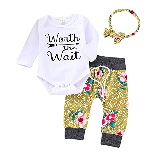 07d6b713a Amazon.com  NUWFOR Toddler Baby Long Sleeves Letter Romper Jumpsuit+ ...