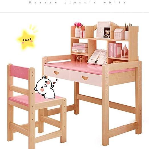 Mesa y silla para niños Escritorio Escritorio estudiante silla de ...