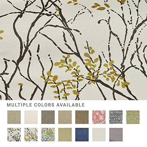 eLuxurySupply Fabric by The Yard - 100% Polyester Upholstery Sewing Fabrics with LiveSmart Technology - Myla Marigold Pattern - Sample Swatch