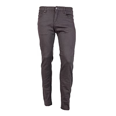 Victorious Men's Skinny Fit Color Jeans-32x32-Grey at Men's Clothing store