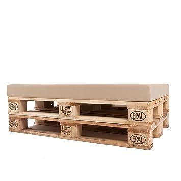 Arketicom Pallet One CHEOPE - Cojin Asiento para Sofa en Euro Palet con tejido para Exterior