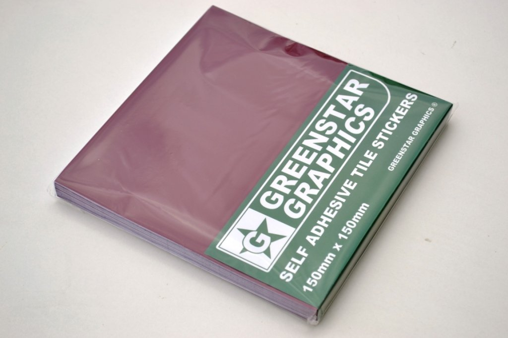 GREENSTAR GRAPHICS TILE STICKERS (150mm x 150mm) - CHOOSE YOUR COLOUR - To Fit 6 inch Kitchen/Bathroom Tiles - Peel & Stick - Easy to Use (Burgundy, 20)