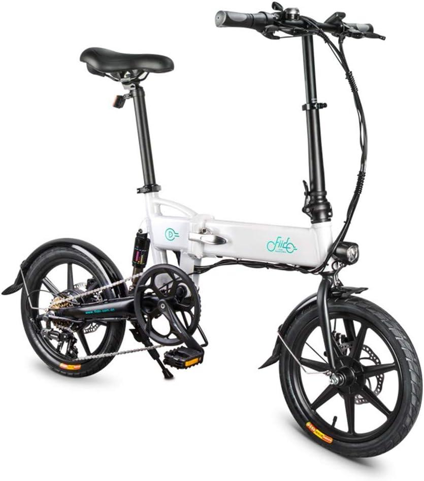 SRXH Bicicleta eléctrica Plegable, Motor de 250 W, 16 Pulgadas 25 km/h, aleación de magnesio superligera 7,8 Ah 30 – 60 km kilometraje con Soporte para teléfono móvil, 3 Modos de Trabajo: Amazon.es: Hogar