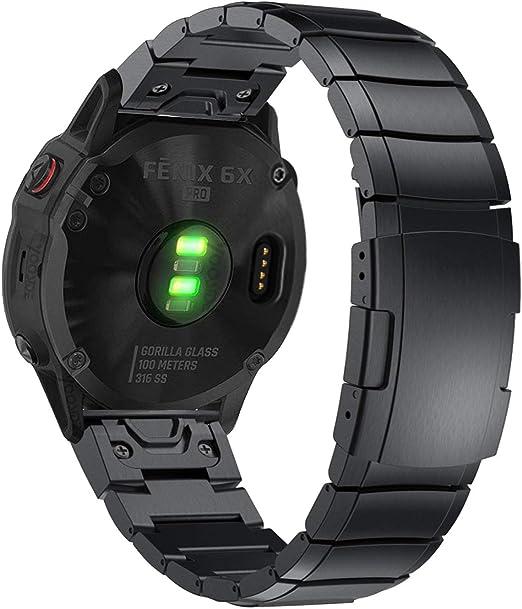Silikon Armband Uhrenarmband Strap Für Garmin Fenix 6X//5X Plus//3HR//Tactix Bravo