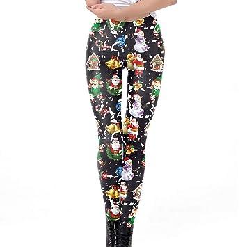 Amazon Com Franterd Womens Christmas Yoga Pants Xmas