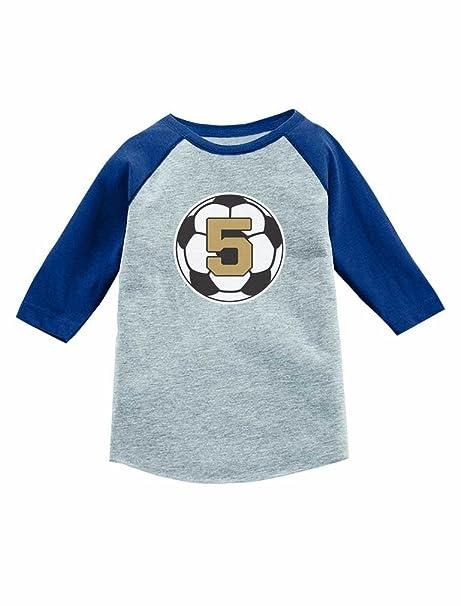 Amazon Tstars 5 Year Old Fifth Birthday Gift Soccer 3 4 Sleeve Baseball Jersey Toddler Shirt Clothing
