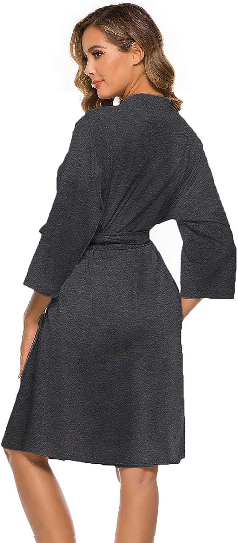 Accappatoio da donna in cotone leggero con tasche LaLaLa