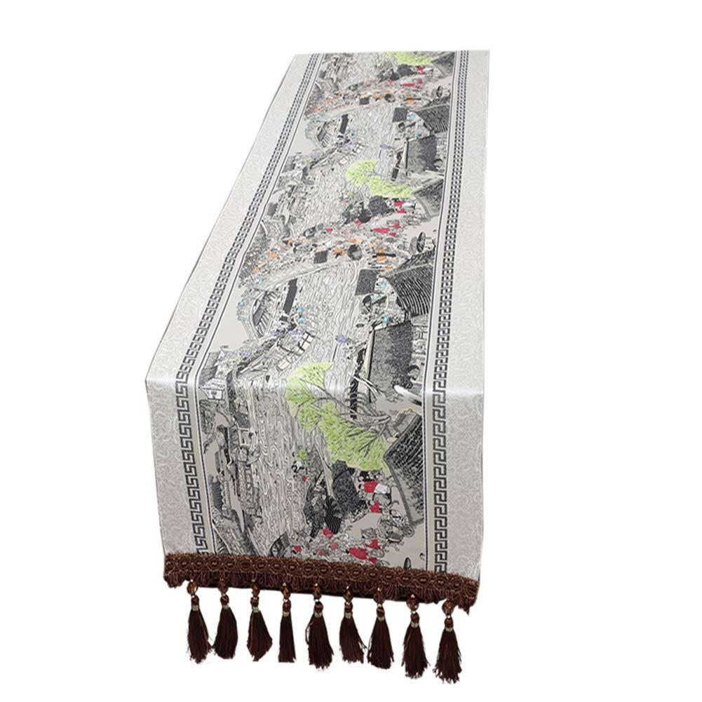 タッセル付きテーブルランナー、キッチン&ダイニングテーブルクロス、パーティー用テーブルフラッグ、毎日の使用 (サイズ さいず : 50x230cm) 50x230cm  B07P9LZY68