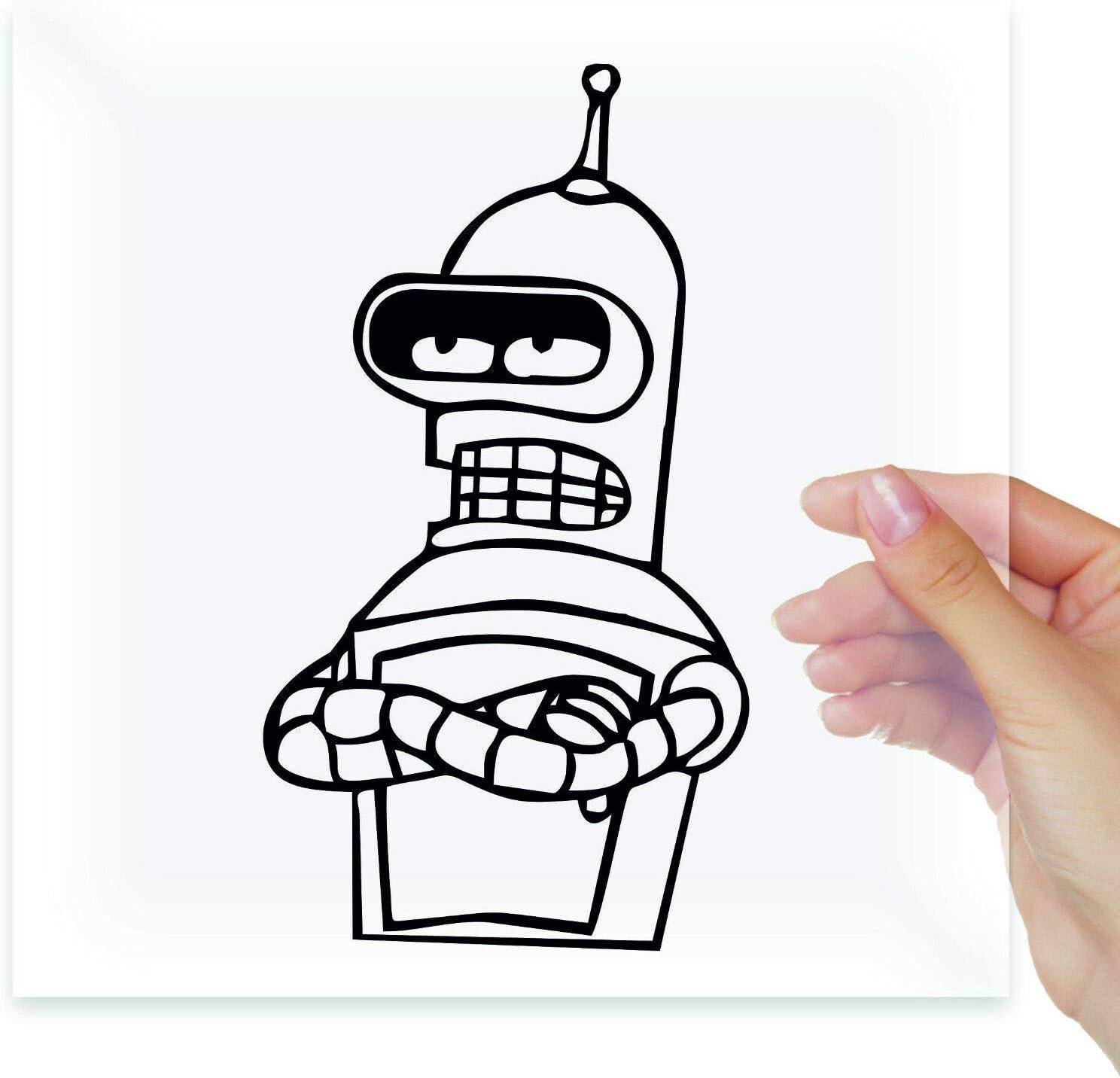 A Design World Robot Bender Futurama Vinyl Stickers Decals Laptop MacBook Moto Car Auto Tablet