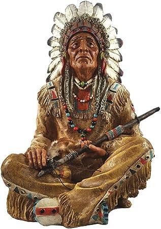 Indianer Krieger mit Pfeil und Bogen Western Wilder Westen Deko Indianerfigur
