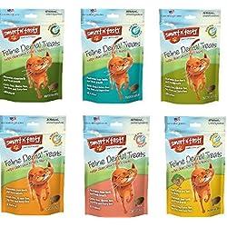 Smart n' Tasty 3oz Cat Dental Grain Free Treats - 6 Flavor Variety Pack