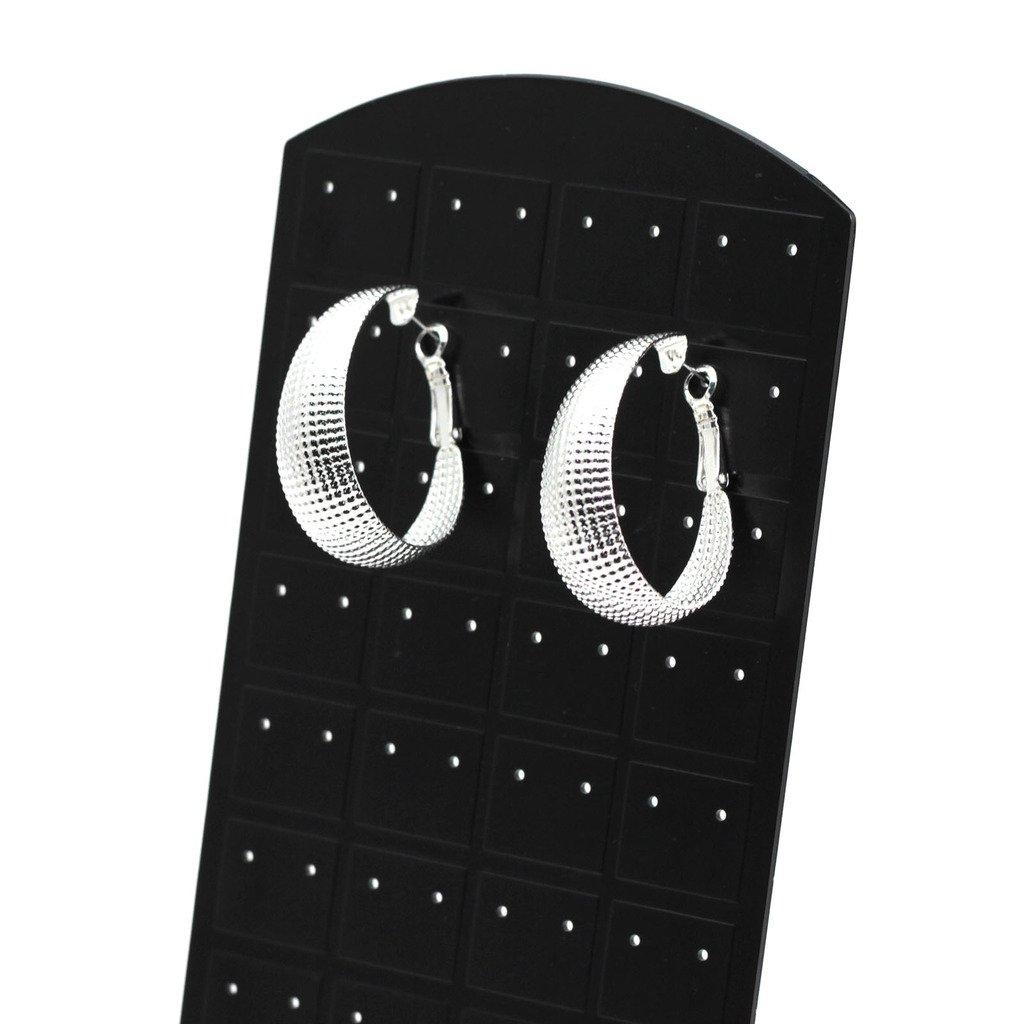 HuntGold 1 Paar Schick Ellipsen Art Silber /überzogene Ohrringe Frauen M/ädchen Schmucksache Ohr-Band