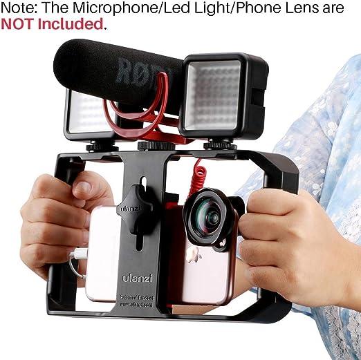 HYRL Smartphone Video Rig Phone Video Stabilizer Grip Tripod Mount ...