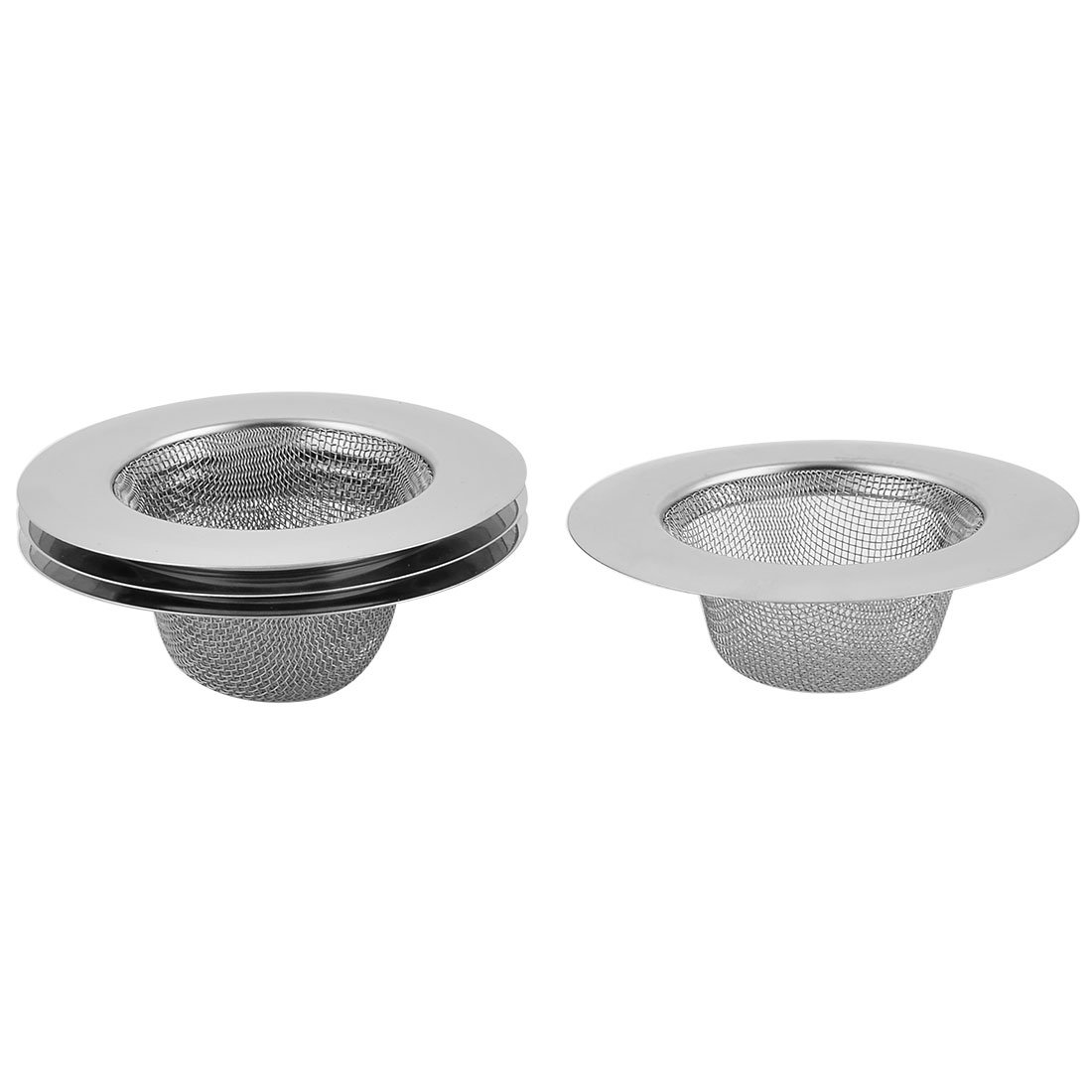 uxcell Stainless Steel Kitchen Round Shaped Sink Mesh Basket Leftover Stopper Strainer 4pcs