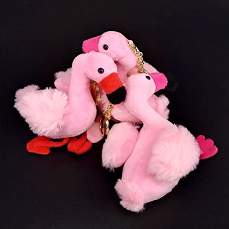 Amazon.com: Lovely Flamingo Llavero de peluche con colgante ...