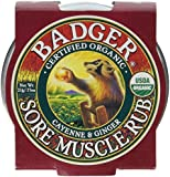 Badger Muscle Rub Balm Certified Organic Cayenne & Ginger Soothes & Relaxes 0.75oz
