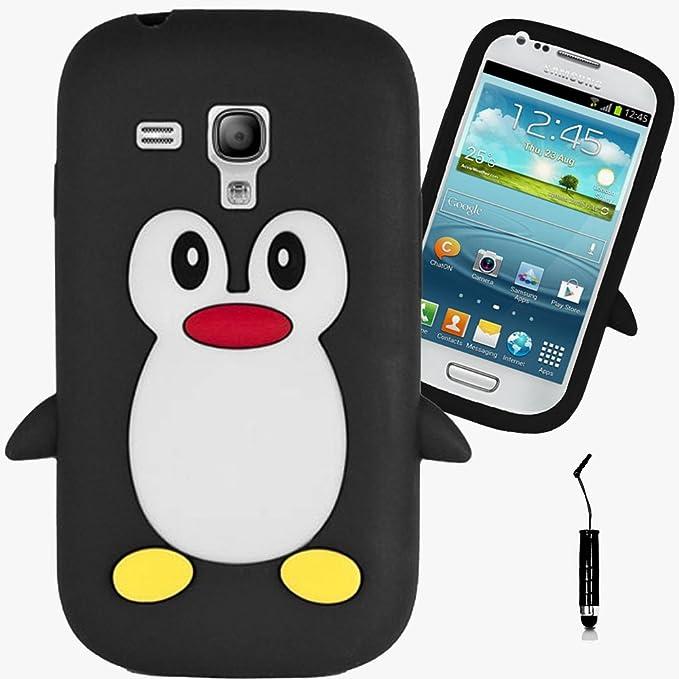 AOA CasesTM Black Penguin Samsung Galaxy S3 Mini i8190 Funda Negro Pingüino Hydro Protectora De Silicona Caso Piel Portada Shell Carcasa De Estuche Case: Amazon.es: Electrónica