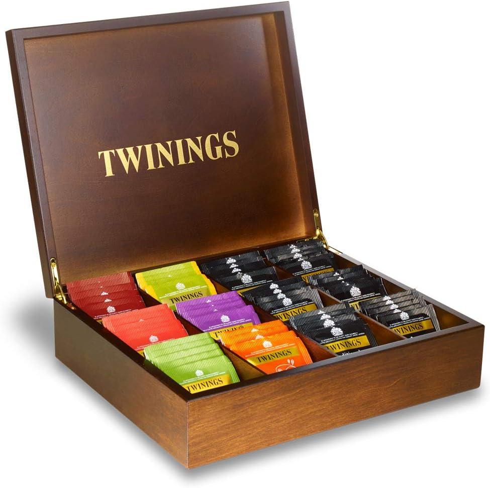Twinings 12 Deluxe de caja de compartimiento de madera del té: Amazon.es: Hogar