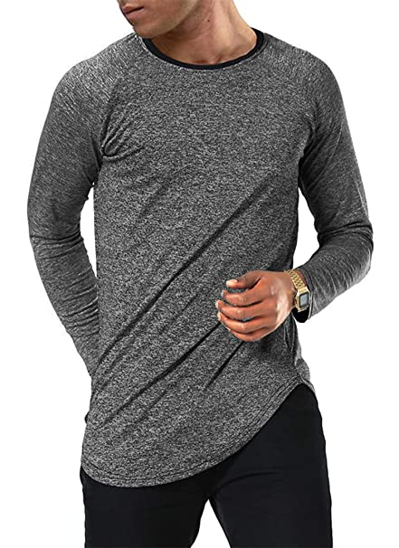 28fce6fe6 Amazon.com  Moomphya Men s Long Sleeve Raglan Jersey Shirt Hipster ...