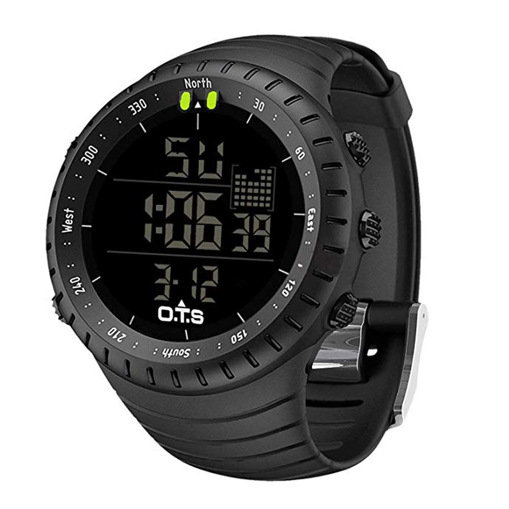 Men's Digital Sports Watch Waterproof Tactical Watch with LED Backlight Watch for Men