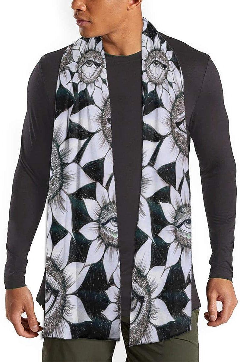 Sunflowers Plant Magic Eyes Mens Womens Scarf 71/¡/± Long Winter Fashion Scarves Warm Shawl