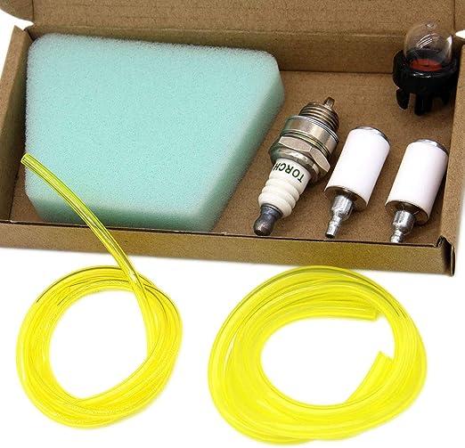 Kit Tubo Carburante 5x Con Filtro Per Rasaerba Decespugliatore A 4 Tempi