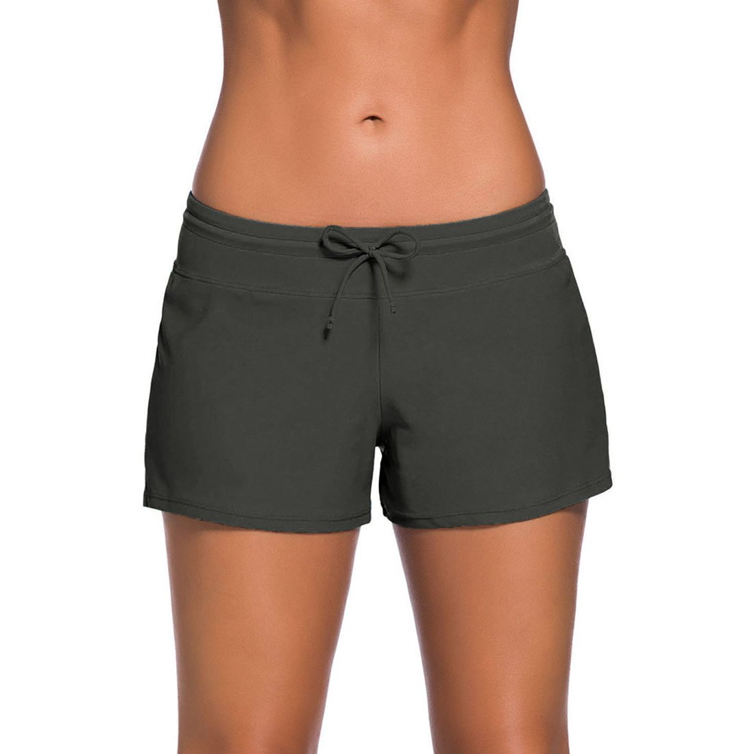 Comeon Women Swim Shorts, Ladies Girls Swimwear Short With Adjustable Drawstring Mini Bikini Swimming Costumes Brief Bottoms Swimsuit Beachwear