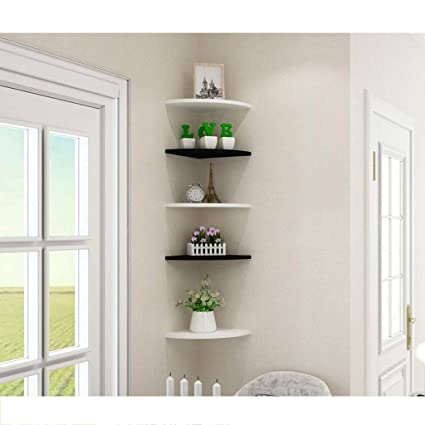 Amazon.com: Wall Shelf Punch-Free Bedroom Living Room Wall Shelf ...