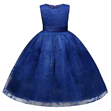 WYXlink Lace Girls Princess Dress Kids Party