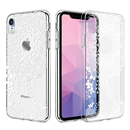 wholesale dealer 17aa0 4b431 Caka Clear Case Compatible for iPhone XR Clear Floral Case Flower Pattern  Slim Girly Anti Scratch Excellent Grip Premium Clarity TPU Crystal ...