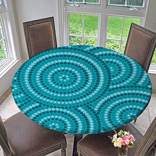 Mikihome Premium Tablecloth Abstract Aboriginal Dot Painting Australian Indigenous Folk Artwork Circle Shapes 31.5